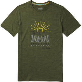 Smartwool Merino Sport 150 Mountain Morning t-shirt Heren olijf